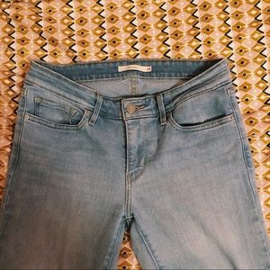 Levi's skinny white wash jeans